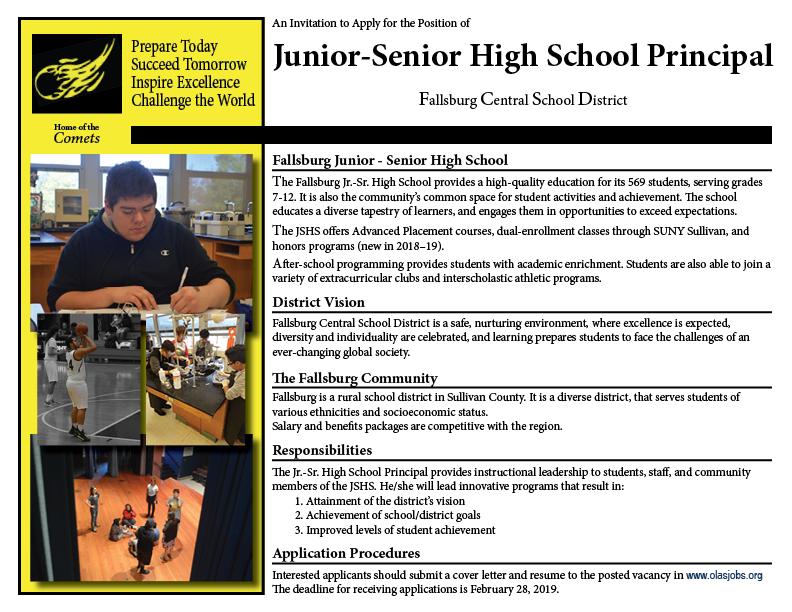 Principal Search Posting
