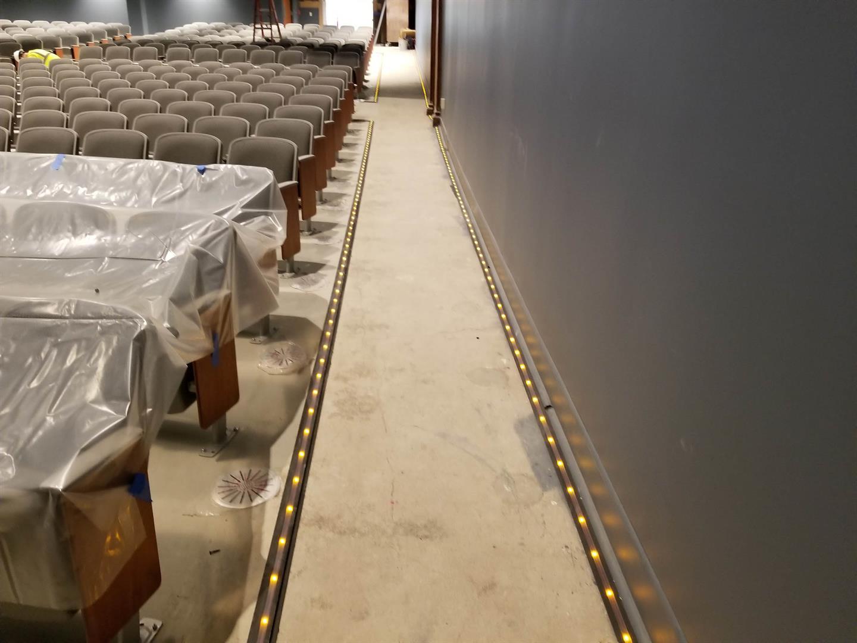 Auditorium Floor Lighting