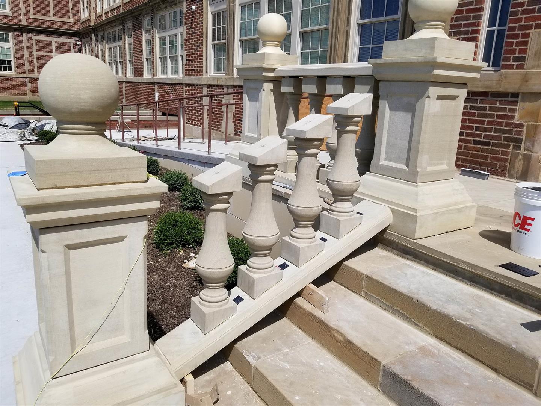 Courtyard Stone Railings