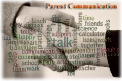 Picture of Parent Communication Wordle