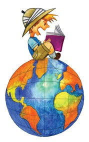 Clipart of child reading book
