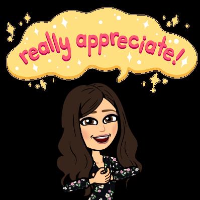 BitMoji says thanks!