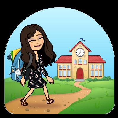 Bitmoji going to school