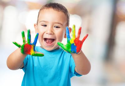 paint handed kid