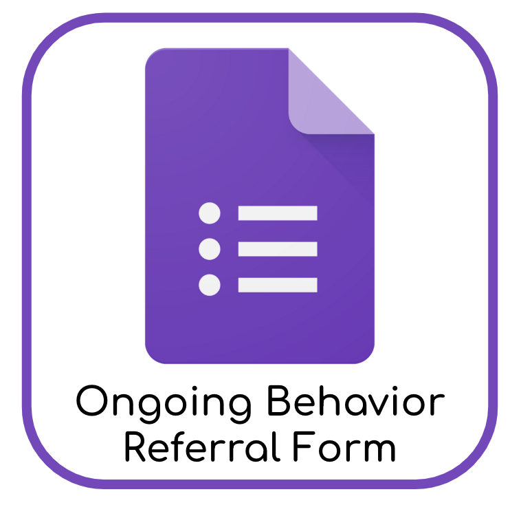 Ongoing Behavior Referral Form