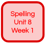 SPELLING UNIT 8 WEEK 1