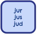 Root Words - Jur, Jus, Jud