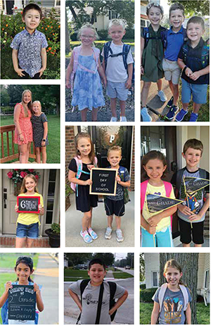 Collage of first day of school photos