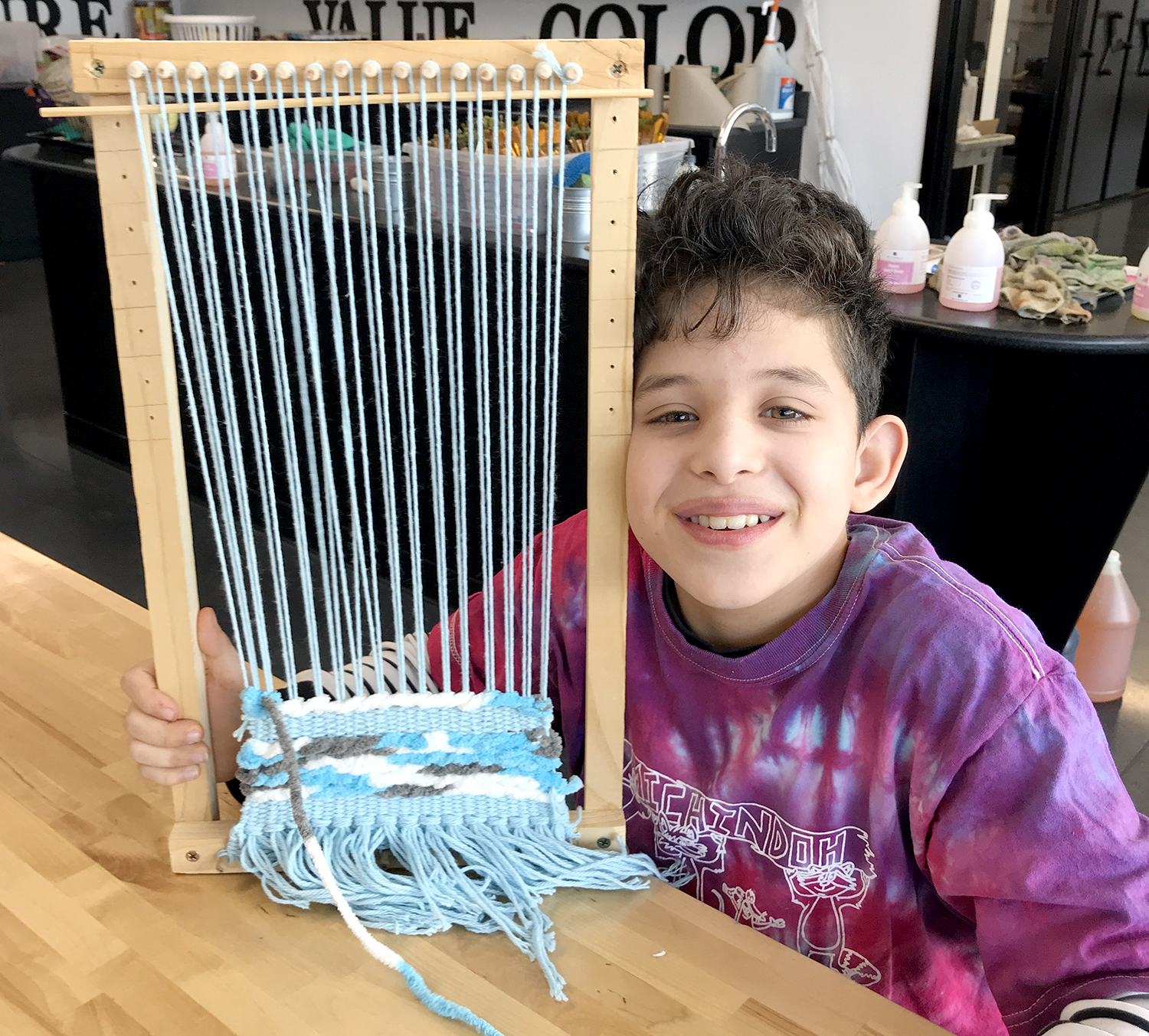 Alborz with his loom
