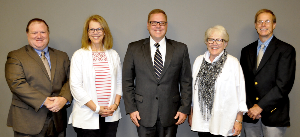 Perrysburg Schools Board of Education Members pose together