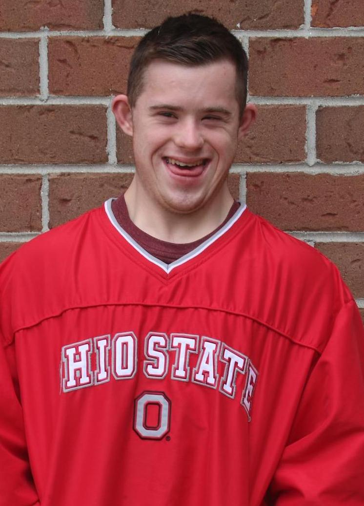 "Student smiling wearing ""Ohio State"" shirt"