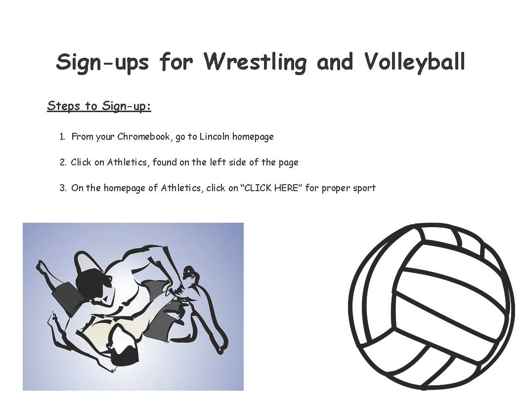 Wresting/Volleyball Sign Up