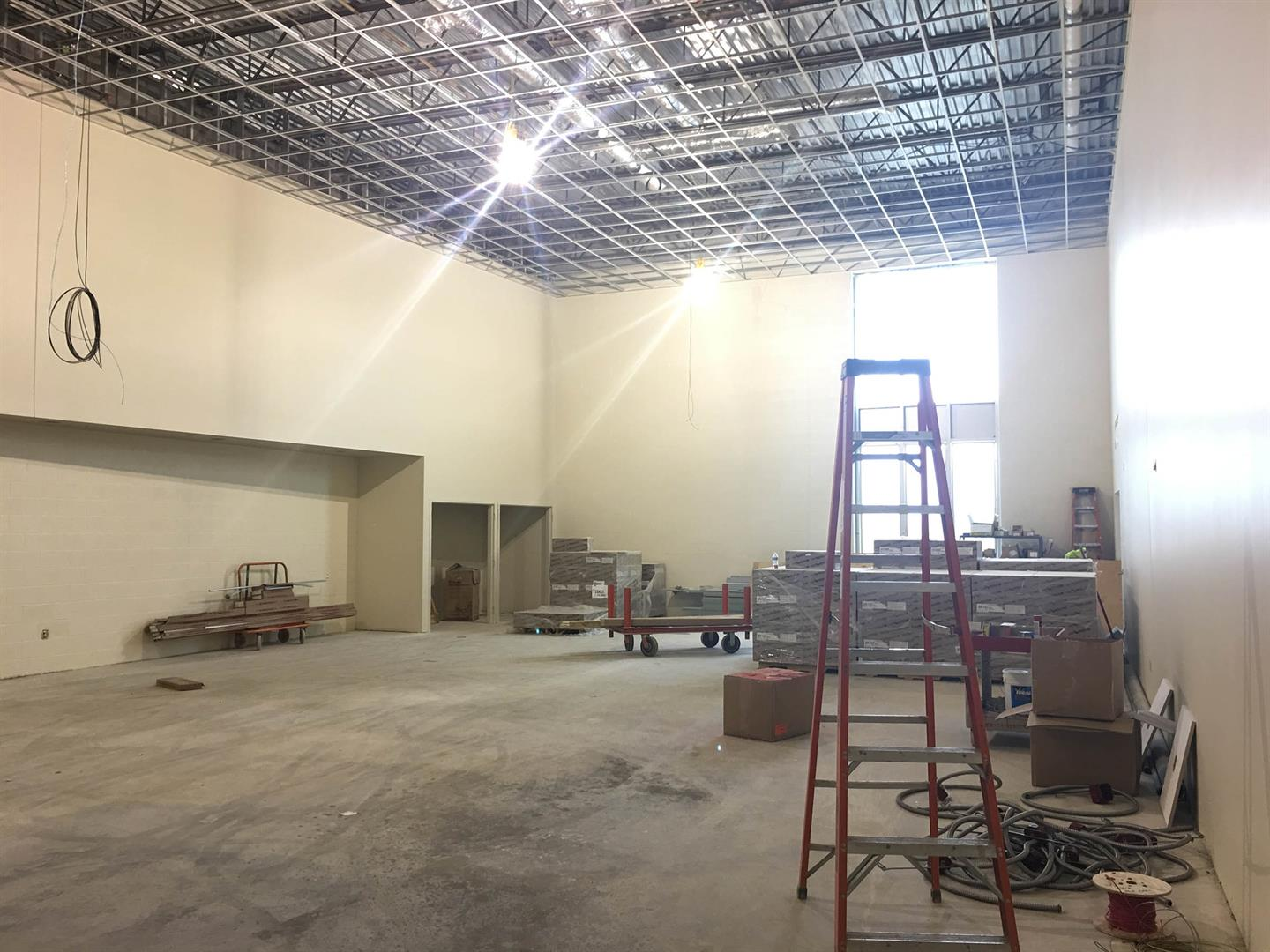 Heights High Acoustical Tile Ceiling Installation