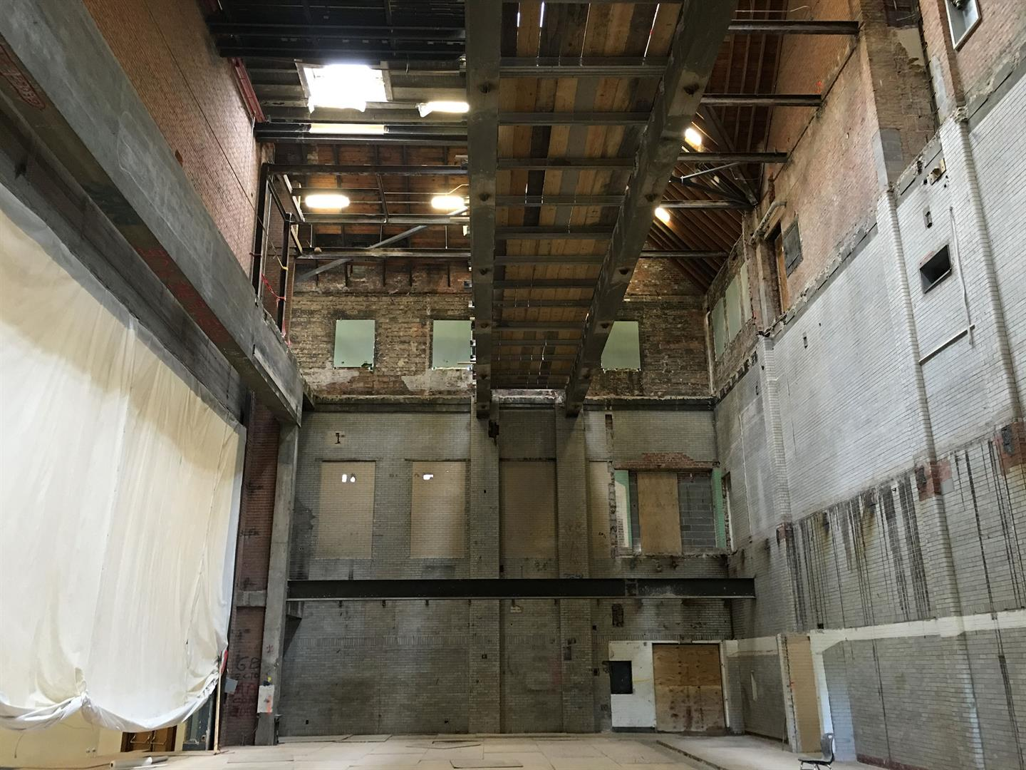 Area G Auditorium Structural Steel Demo Complete
