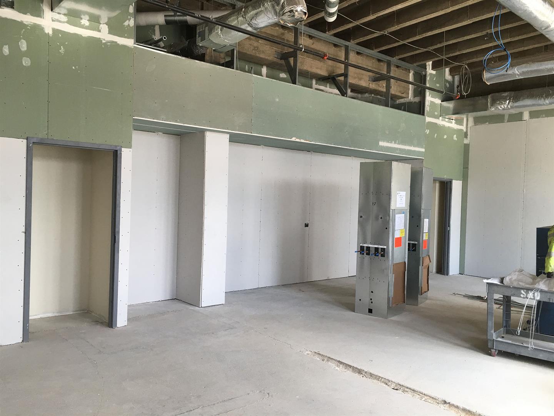 3rd Floor Classroom Drywall Installation