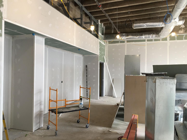 3rd Floor Drywall Finishing