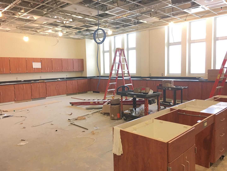 3rd Floor Casework Installation