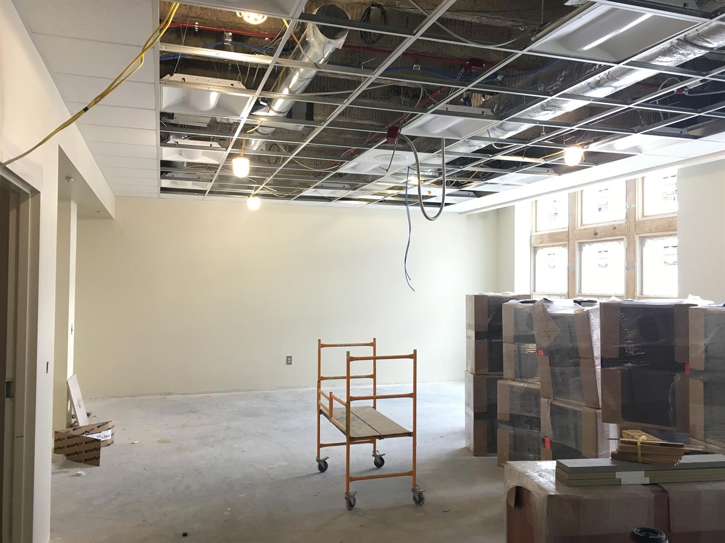 2nd Floor Ceiling, Lights, Speaker & Sprinkler Installation