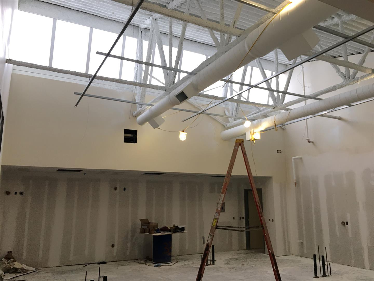 2nd Floor Science Classroom Duct and Ceiling Painting