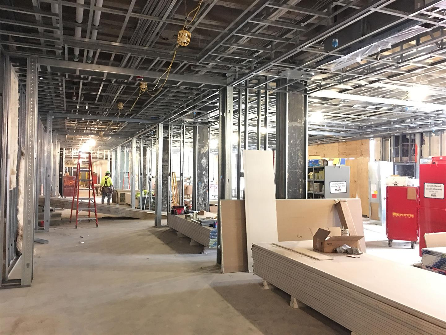 3rd Floor Ceiling and Wall Framing Installation