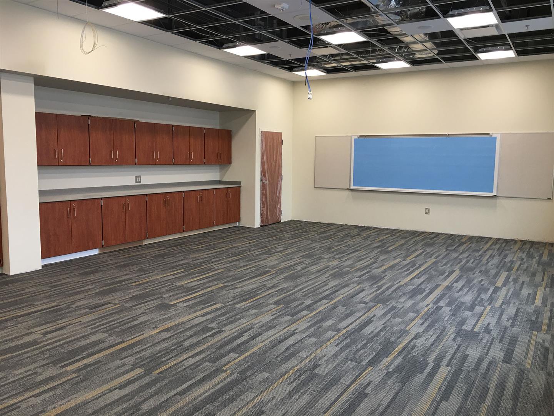 3rd Floor Carpet Tile Installation
