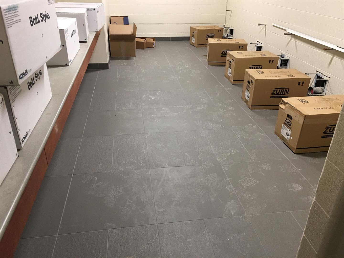3rd Floor Porcelain Tile Installation
