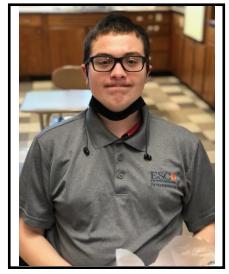 Job training student graduate Bryce Echols