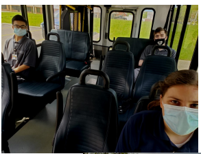 Our job training students participated in travel training with the Geauga Transit