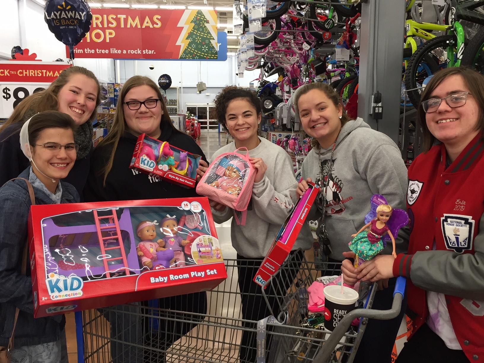 NHS Girls Shopping at Walmart