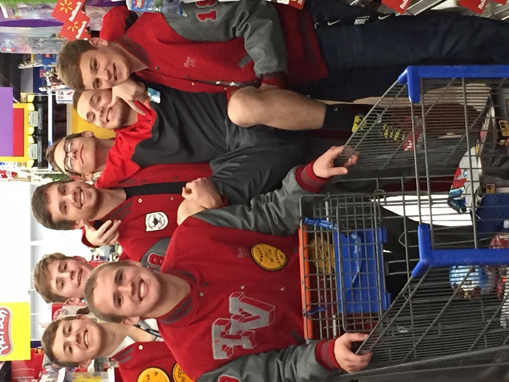 NHS Guys Shopping at Walmart
