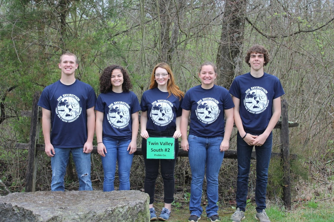 2018 Envirothon Student Outside