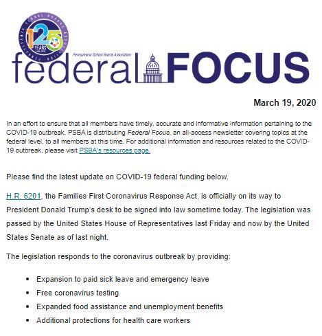 PSBA Federal Focus