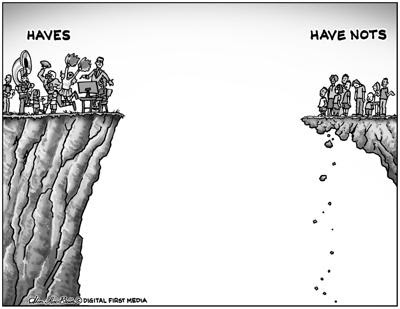 Cartoon of Haves and Have Nots by Alan McBain