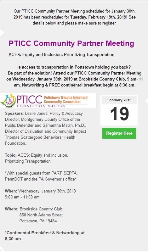 PTIC Community Partner Meeting
