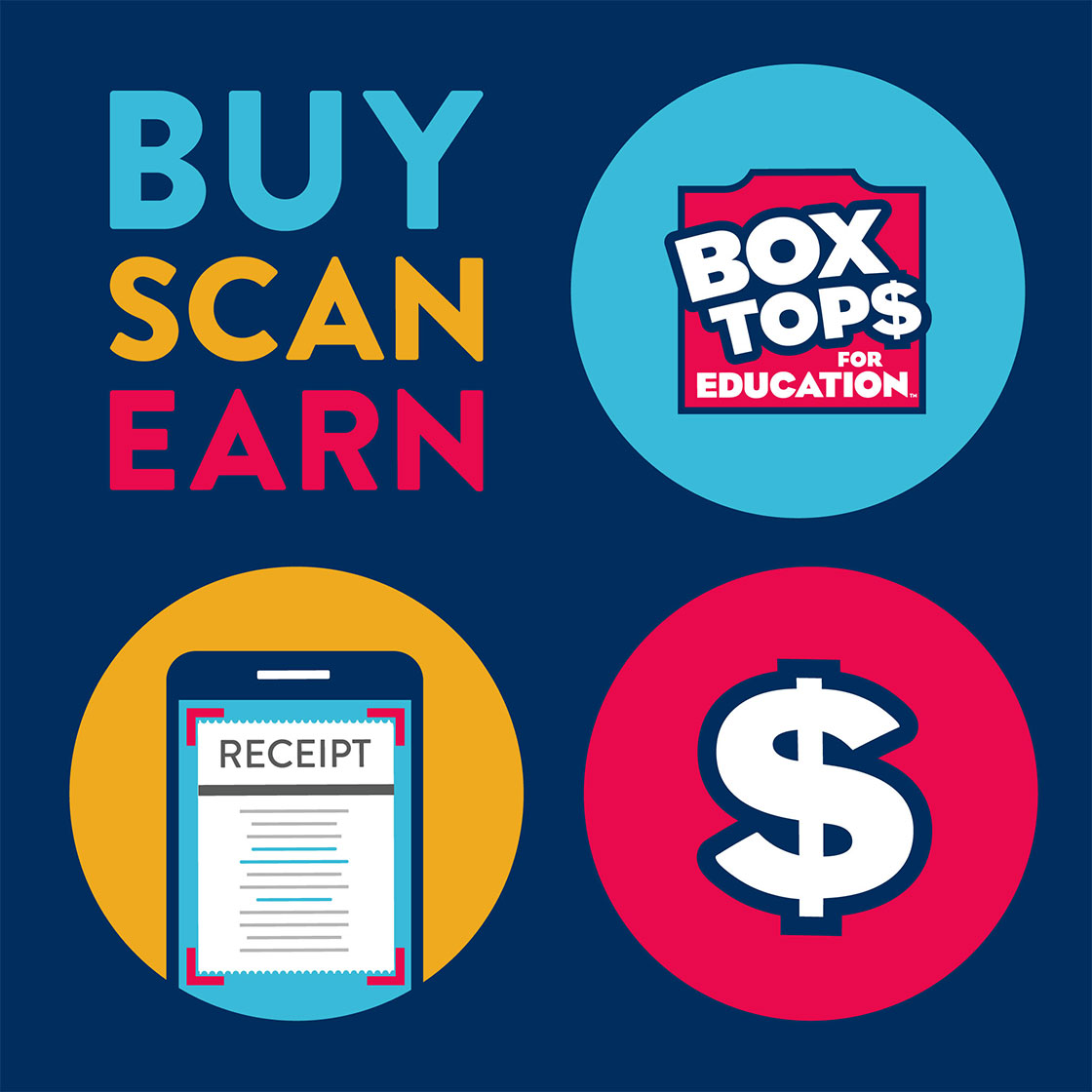 Buy Scan Earn Box tops for Education, click for link