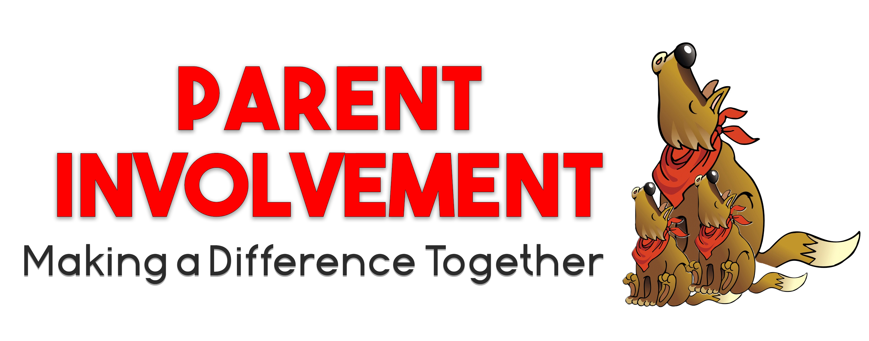 Parent Involvement- Making A Difference Together Parent coyote and young coyotes clipart