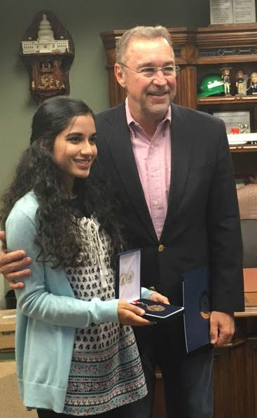 Ayesha Ahsan with Rep. Matt Salmon