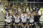 Winning soccer team group shot