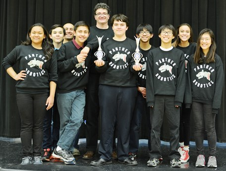 PSA award-winning robotics team group photo