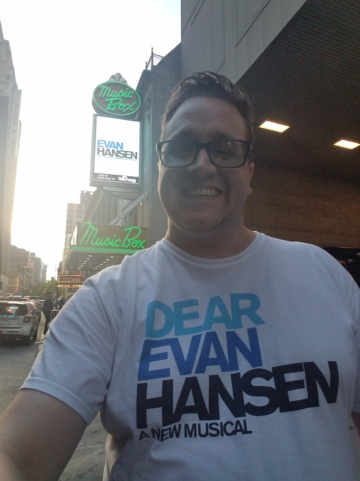 """Mr. Elmore seeing """"Dear Evan Hansen"""" in NYC!"""