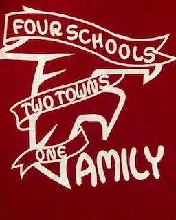 4 schools, 2 towns, 1 family logo