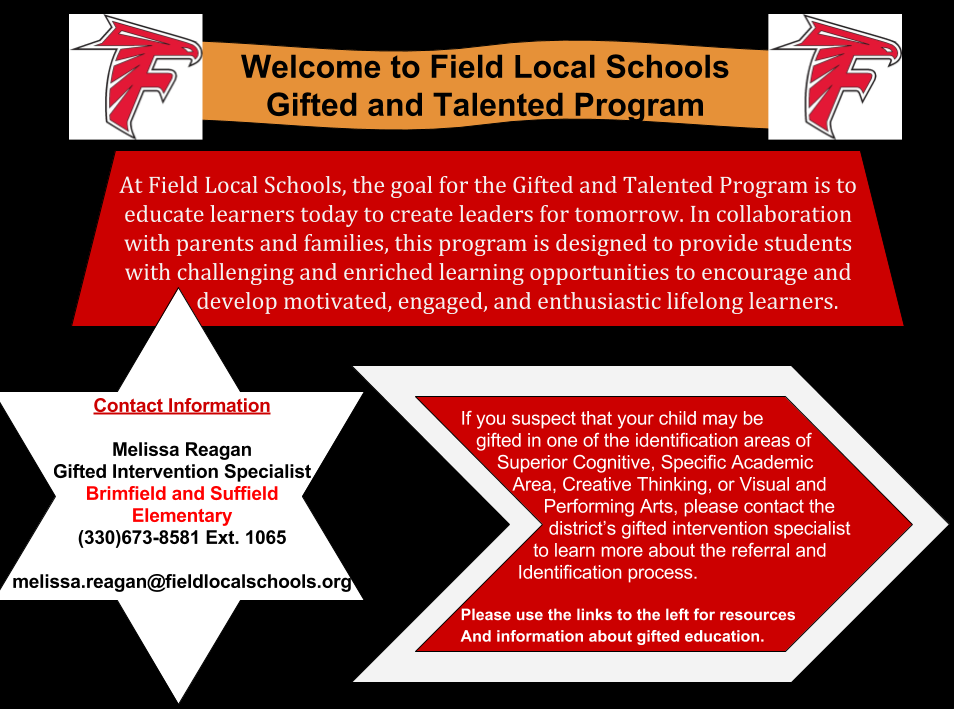 Gifted and Talented Program details-Contact Melissa Reagan