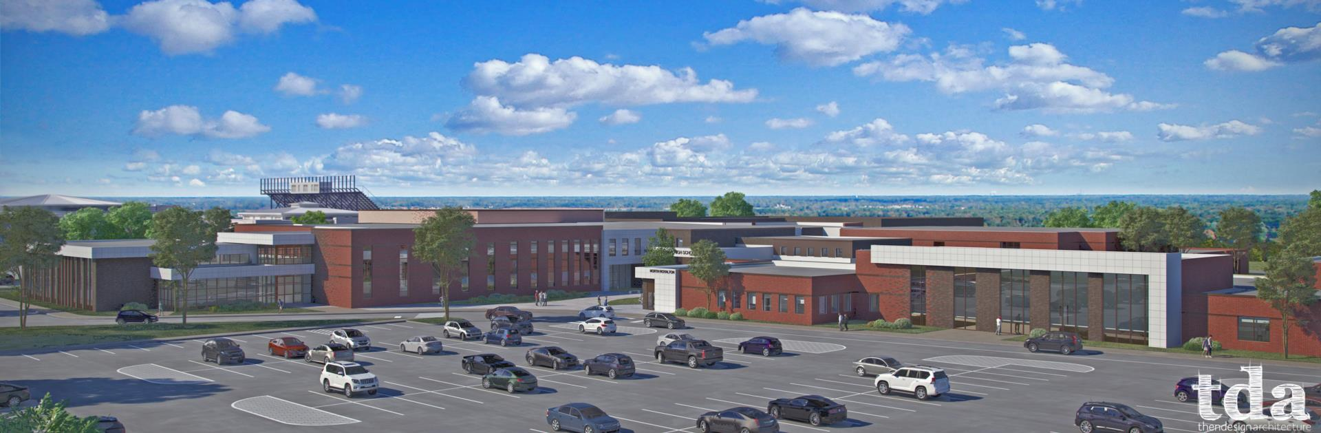 North Royalton High School aerial photo