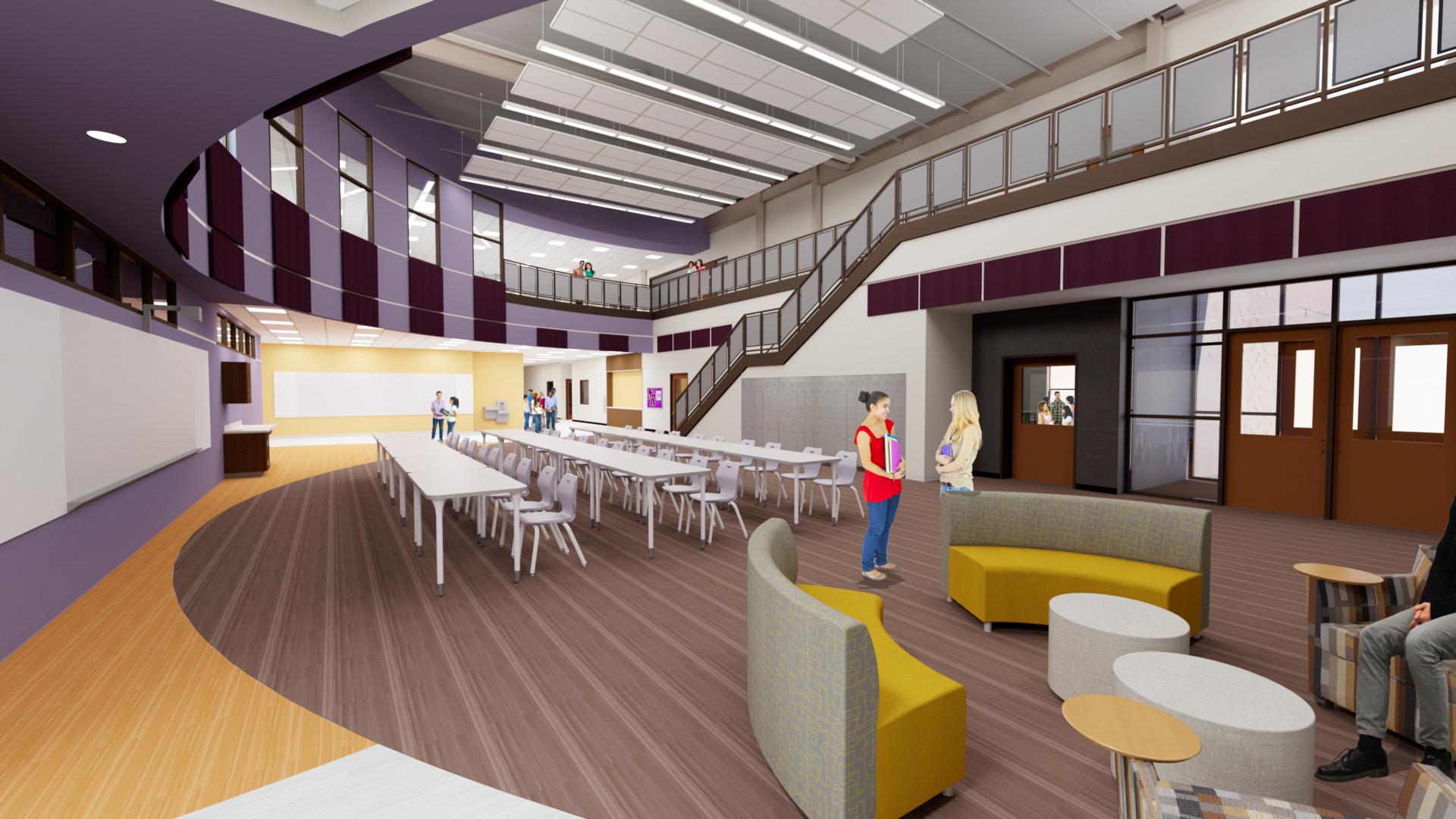 rending of science hub at high school