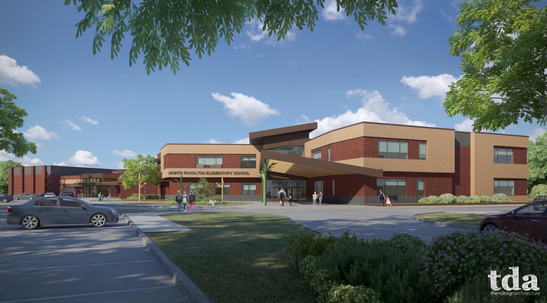 TDA rendering of North Royalton Elementary School