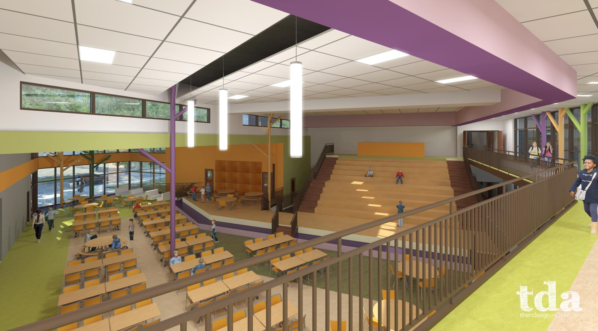 TDA rendering - North Royalton Elementary School interior