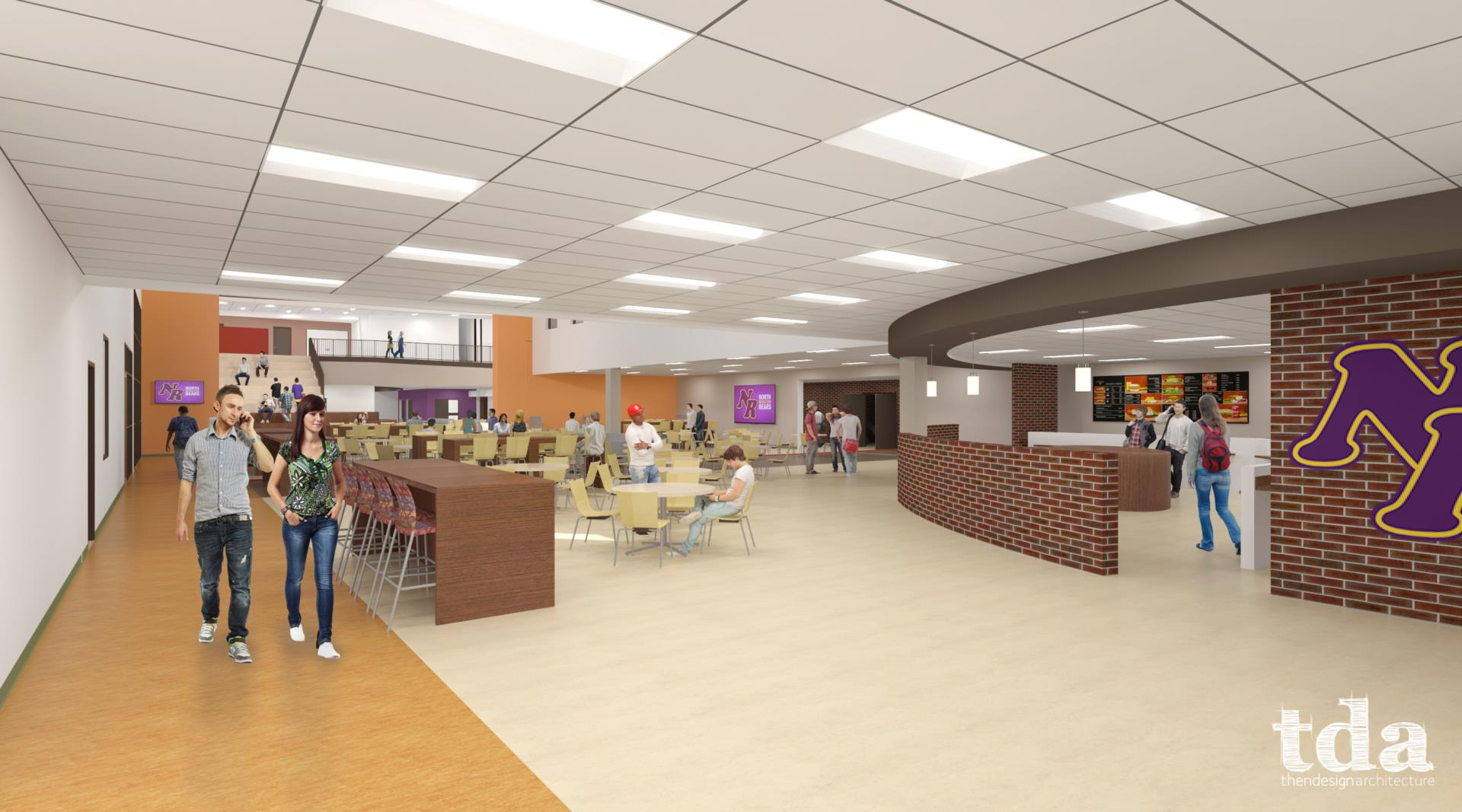 TDA - North Royalton High School Interior rendering